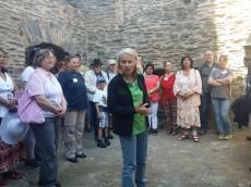 Die Besichtigung der Burganlage