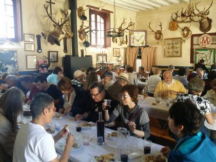 Mittagessen am Schloss Montpoupon, 11.05.2018